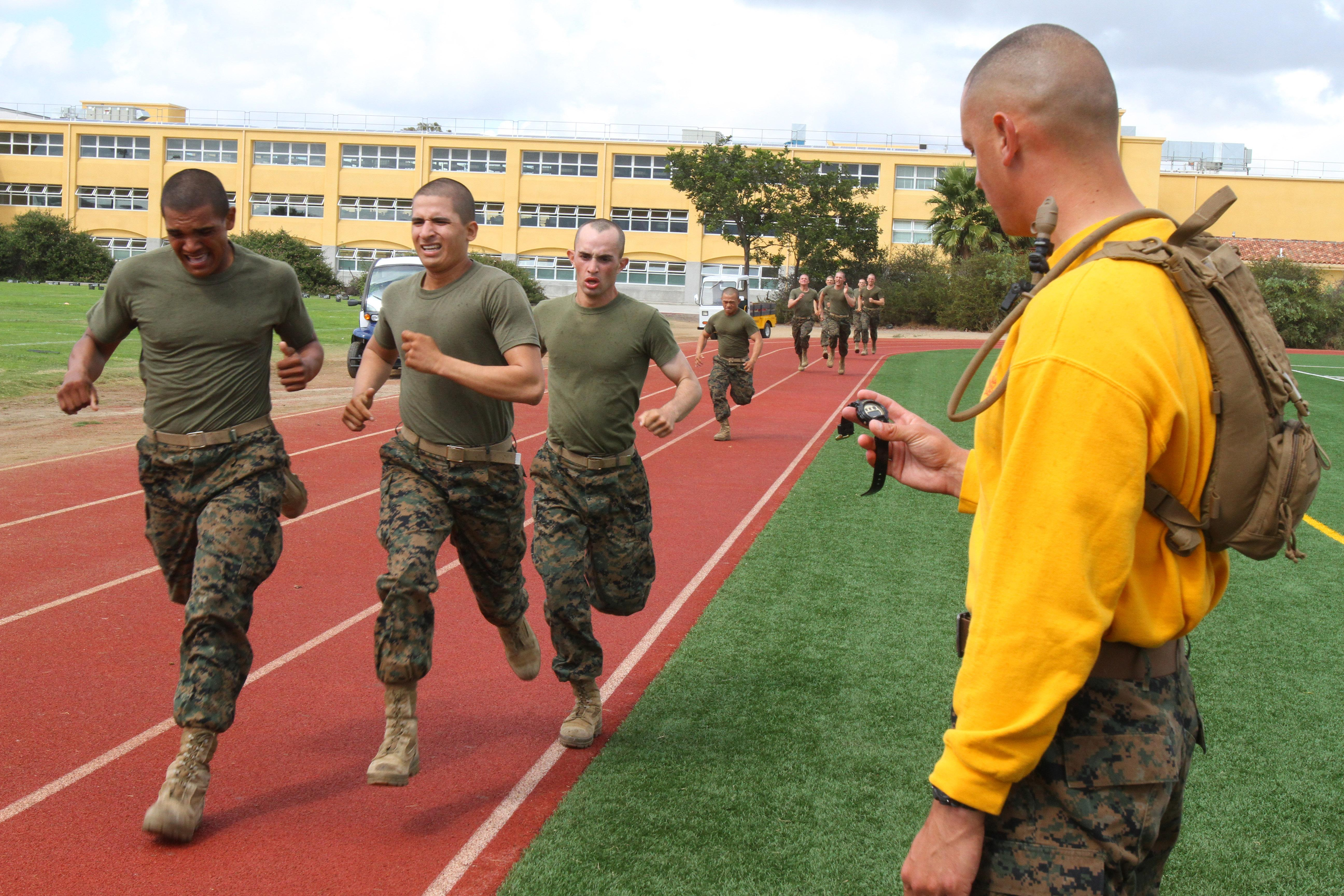 Marine corps initial strength physical fitness amp combat fitness tests